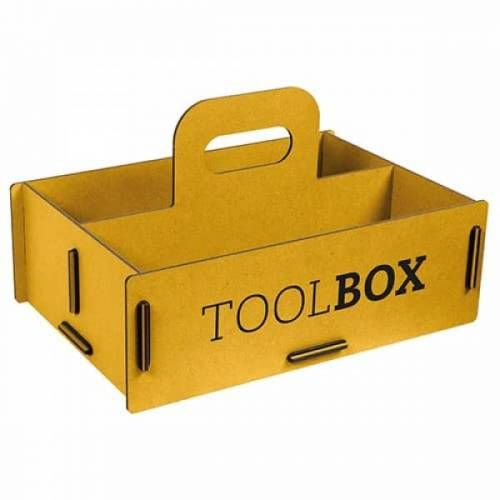 Werkhaus GmbH Aufbewahrungsbox Aus Holz - Schachtel, Holzkiste gelb M