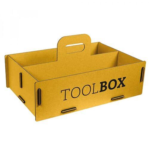 Werkhaus GmbH Aufbewahrungsbox Aus Holz - Schachtel, Holzkiste gelb L