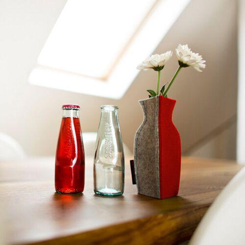 nettedinge Emma S Vase rot ca. 15 cm hoch und 7 cm breit