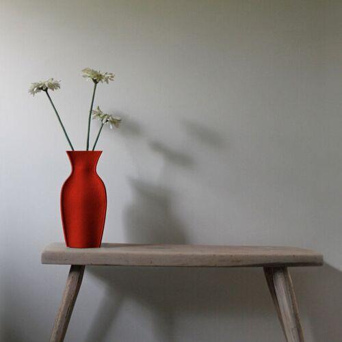 nettedinge Emma L Vase rot ca. 31 cm hoch und 15 cm breit