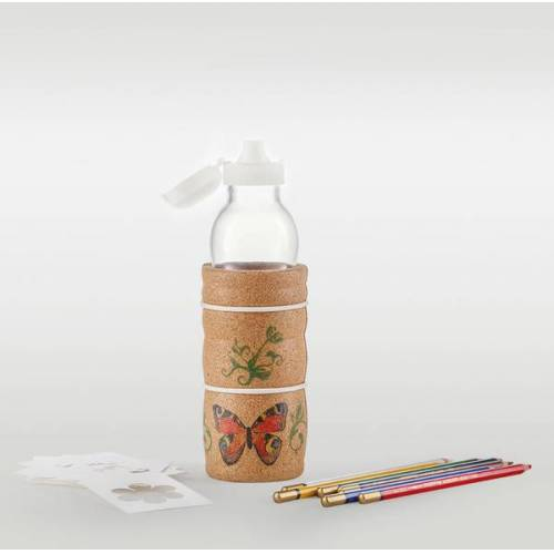 Nature´s Design Trinkflasche Lagoena 0,5 l Mit Korkummantelung Kids