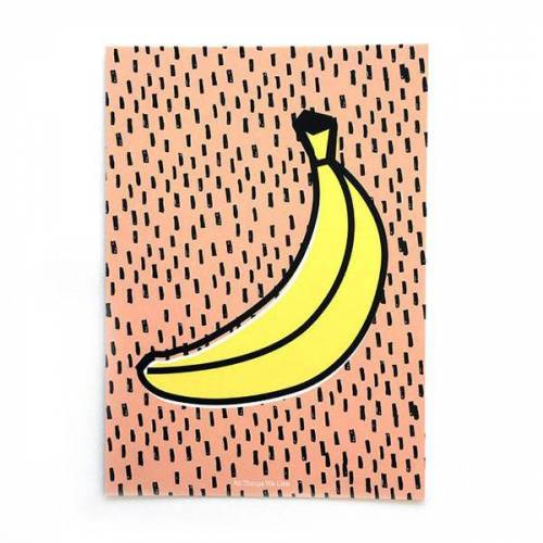 all the things we like A4 Poster Banane Mit Aufhängung