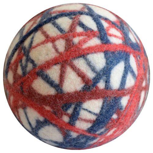 Lou-i Filzball Bunt Made In Germany - Weicher Spielball Für Drinnen weiß/rot/blau 43 cm