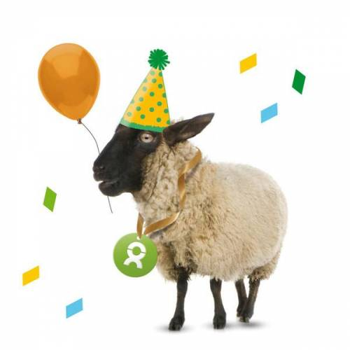 OxfamUnverpackt Schaf (Geburtstagskarte)