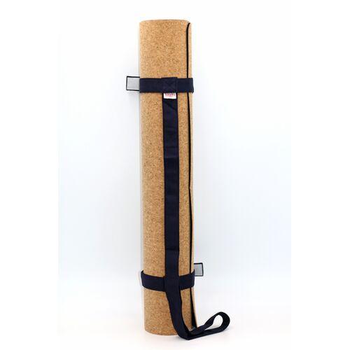 BAGHI Yogamatte Kork 183x65cm Mit Tragegurt dunkelblau
