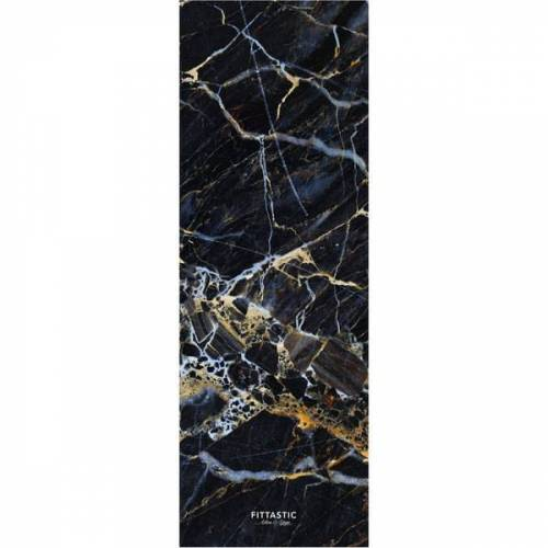FITTASTIC All-in-one Reise Yogamatte Black Marble 1,0mm black