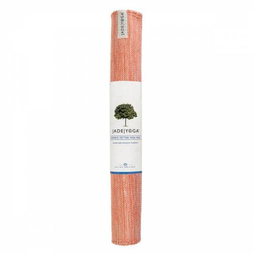 JadeYoga Mysore Bio-baumwoll Yogateppich anatoo orange