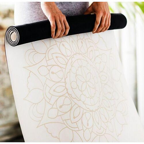 Diyogi Mandala Yogamatte 4mm weißes mandala