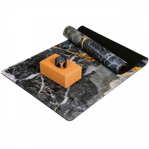 FITTASTIC Yoga Set Grey Marble grey