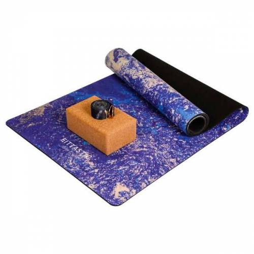 FITTASTIC Yoga Set Blue Marble blue