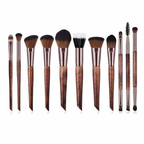 Hurtig Lane Vegane Make-up Pinsel Set - Holz Und Rosé Gold gold