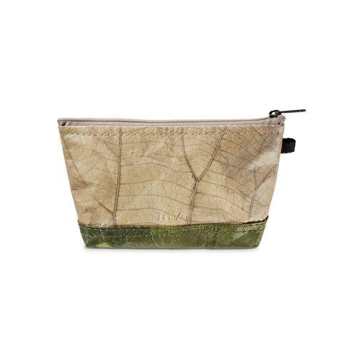 """BELEAF Beutel """"Bag Leaf"""" Aus Blattleder Vegan leaf green"""