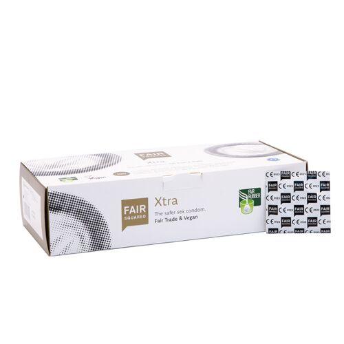 Fair Squared Kondome Xtra - 100 Stück Einzeln Verpackt - Kondom Aus Fair Gehandeltem Naturkautschuklatex - 100er Box