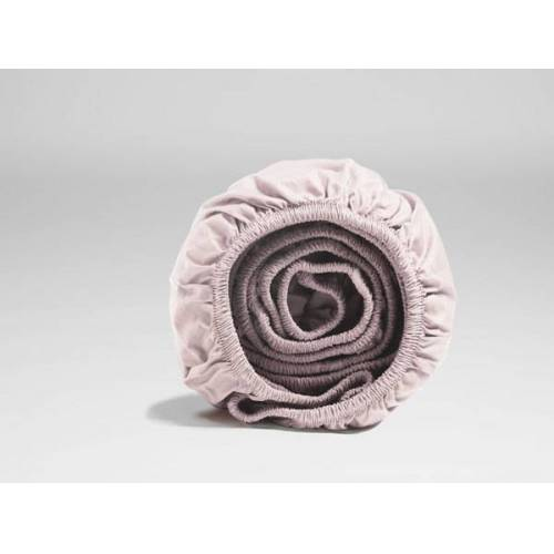 Yumeko Spannbettlaken Perkal pale rose 90x210x30