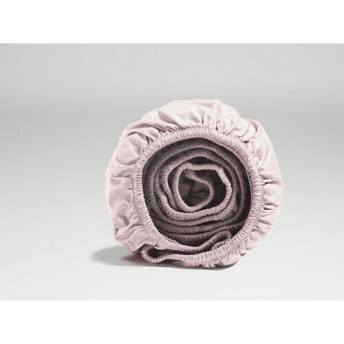 Yumeko Spannbettlaken Perkal pale rose 90x200x30