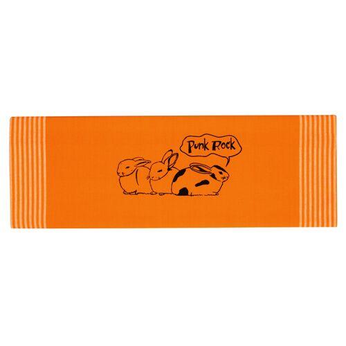 """Hirschkind Bio-& Fair-trade-geschirrtuch """"Punk-rock"""", Orange orange"""