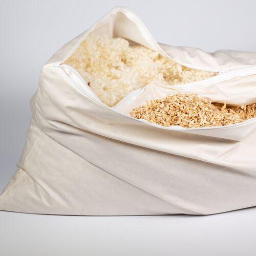 nahtur-design Kopfkissen 2-kammer-kissen Mit Dinkelspelz Und Wollkügelchen, Kombikissen, Nackenkissen