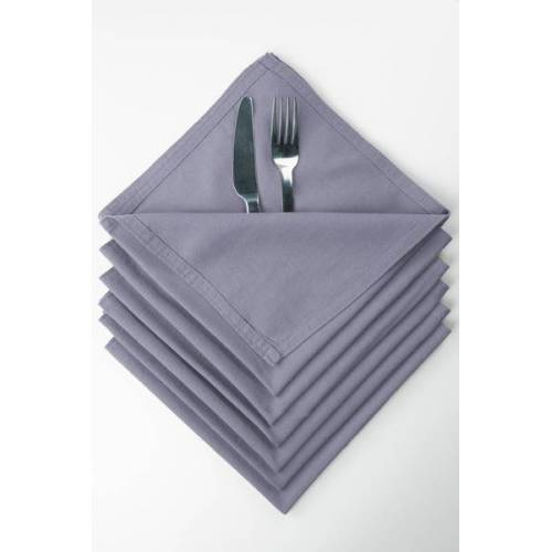 jilda-tex Serviette 6er Set / 12er Set 42x42cm Renforce 100% Bio-baumwolle lavendel