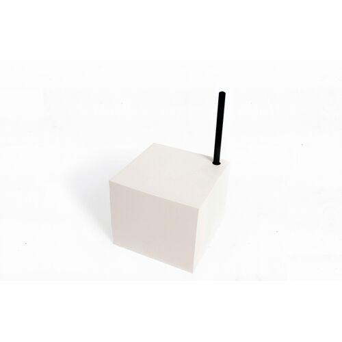 tyyp Notizblock Würfel, Schwarzes Oder Weißes Papier+ Schwarzer Bleistift, Schwarzes Papier Und Handgebunden Mit Stifthalter Loch weiß