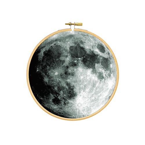 renna deluxe Mond Im Stickrahmen Als Bild