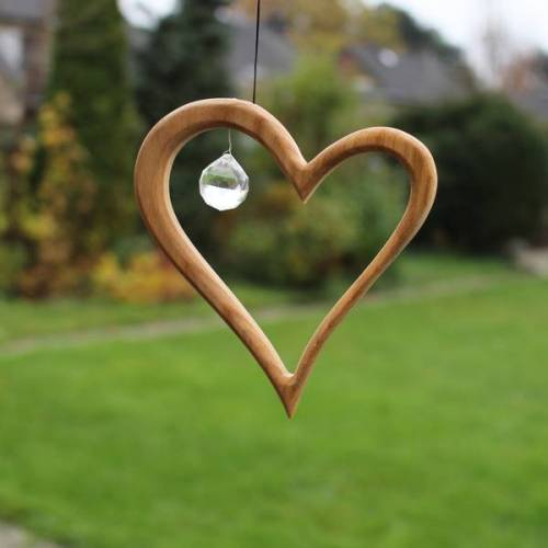 Mitienda Shop Fensterdeko - Herz Mit Kristall