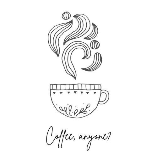 Eykaffee Poster Coffee Anyone coffee A3