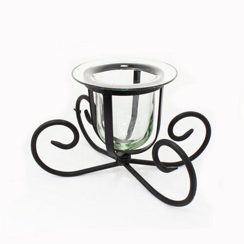 Mitienda Shop Deko Glas   Windlicht   Kerzenhalter Aus Glas Und Eisen   Blumenvase   Fensterdeko