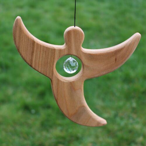 Mitienda Shop Fensterdeko Engel Aus Holz Mit Bleikristall