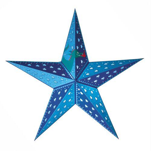 Mitienda Shop Papierstern Beleuchtet Für Kinder Blau   Kinderzimmerdeko blau
