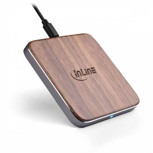 Inline® Qi Woodcharge, Wireless Fast Charge