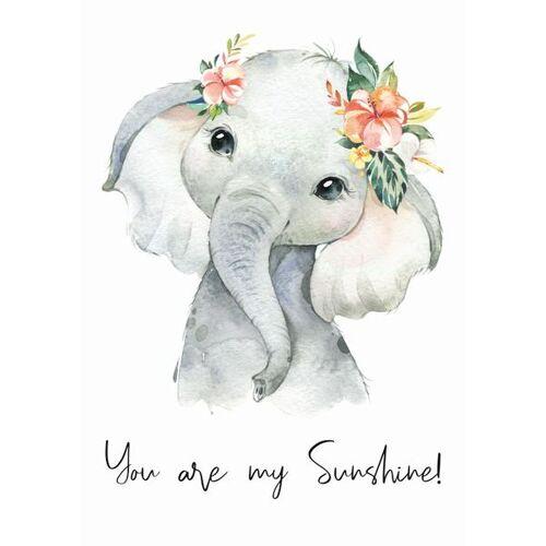 """Eykaffee Kleiner Elefant """"Sunshine""""  A3"""