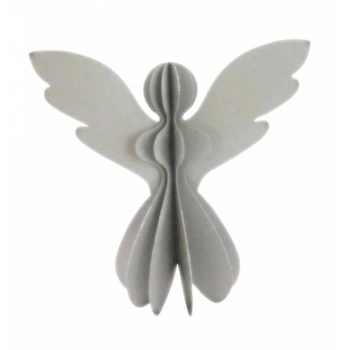 Only Natural Papier-engel Silber Mit Glitzer silber 30x30 cm