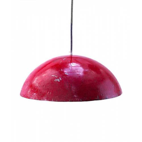 SWANE-Design Upcycling Deckenlampe - Ölfass Gelb/orange/blau/rot - L/xl rot XL