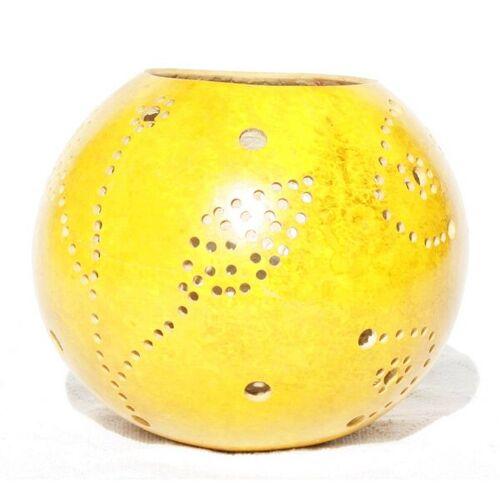Mama Akua Kalebasse Teelicht gelb 15 cm