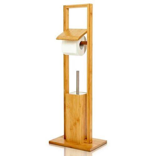Bambuswald Wc-garnitur Aus Bambus / Standgarnitur Mit Toilettenbürste bambus