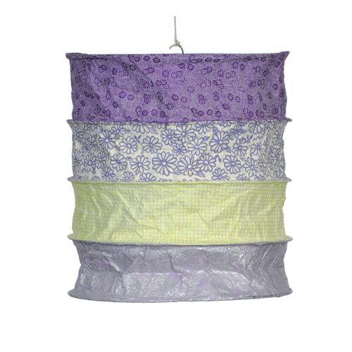 Mitienda Shop Papierlampenschirm Toscana- Lokta Pendelleuchte Lila-grün lila