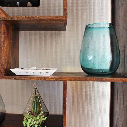 Mitienda Shop Dekovase Aqua   Blumenvase   Glasvase   Große Vase   Fensterdeko aqua