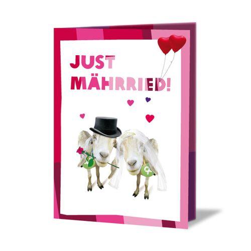 OxfamUnverpackt Ziegenpärchen (Hochzeitskarte)