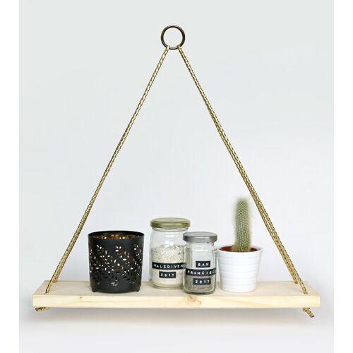 Gary Mash Wandregal Triangle Mit Kordel goldene kordel