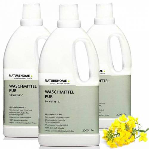 NATUREHOME Veganes Allergiker Bio Waschmittel Sensitive Pur