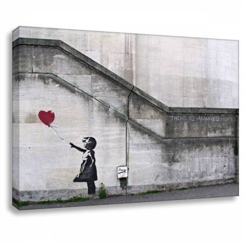 Kunstbruder Banksy Leinwandbild Kunstdruck Always Hope  30x40 cm