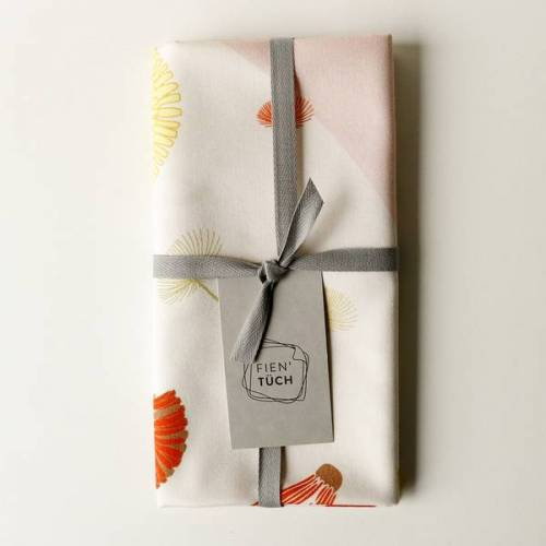 Fien' Tüch Furoshiki Tuch - Verpacken Und Mehr wiese (rosa) M