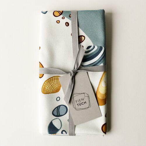 Fien' Tüch Furoshiki Tuch - Verpacken Und Mehr meer (blau) M