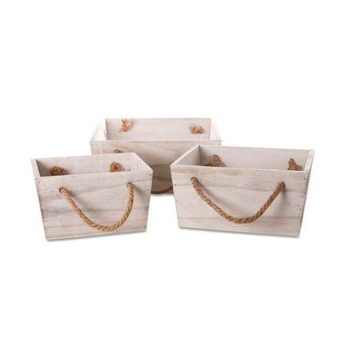 Mitienda Shop Holzkiste Set, Dekokiste Aus Holz Mit Henkel