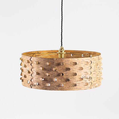 MOYA Birch Bark Pendelleuchte Esstisch-lampe / Hängelampe Aus Birkenrinde Ø50cm