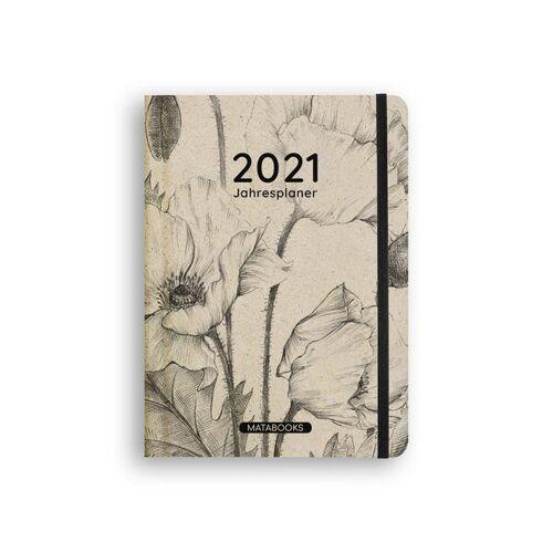 """Matabooks Nachhaltiges Kalender A5 Aus Graspapier - Samaya 2021 """"Nature"""" beige"""