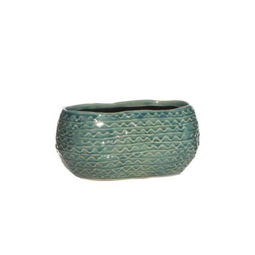 Mitienda Shop Blumenkasten Blue Dots Aus Keramik blue