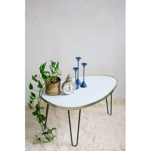 Mighty Home Ovaler Couchtisch Mit Hairpin Legs blau