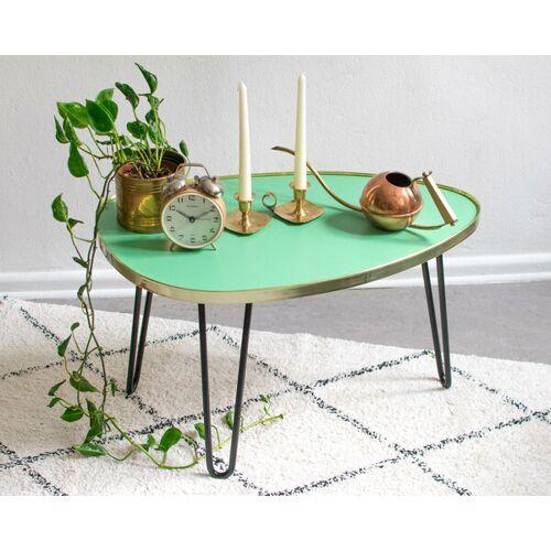 Mighty Home Ovaler Couchtisch Mit Hairpin Legs moosgrün (grün)