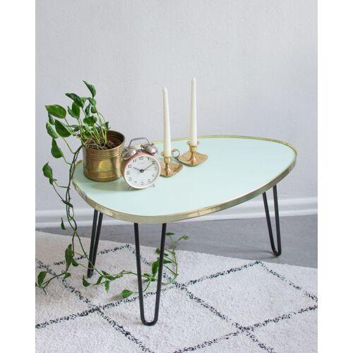 Mighty Home Ovaler Couchtisch Mit Hairpin Legs mintgrün (grün)
